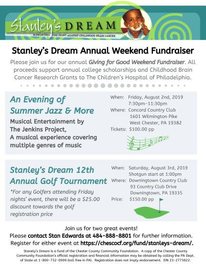 Stanley's Dream   Chester County Community Foundation