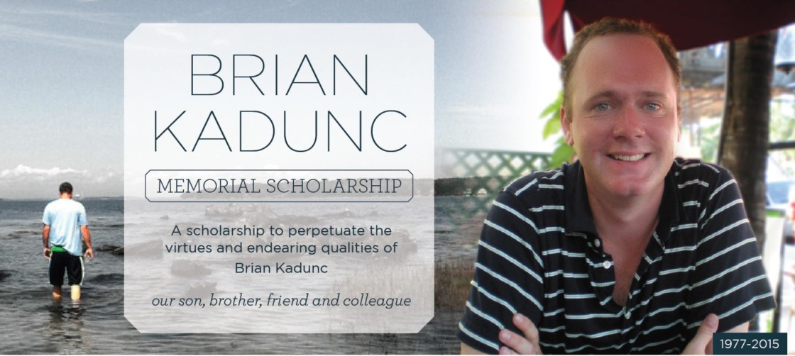 Brian Memorial Card schoalrship announcement image